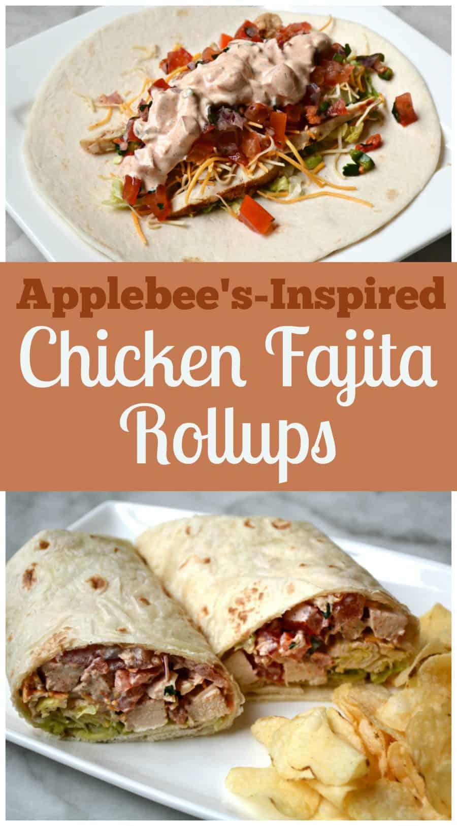 Applebess Chicken Fajita Rollup Recipe - Tastes just like them!