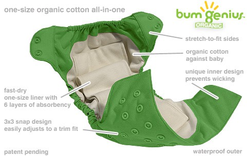 bumgenius AIO Elemental Cloth Diaper