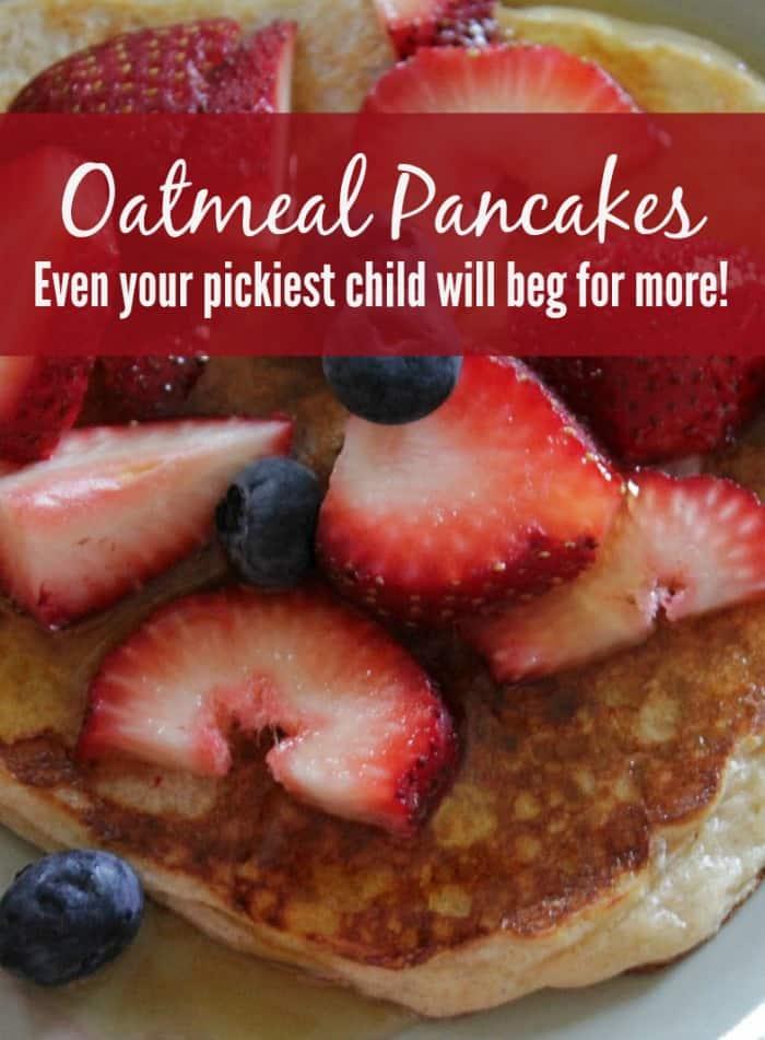 Oatmeal Pancake Recipe {Easy & Delicious}