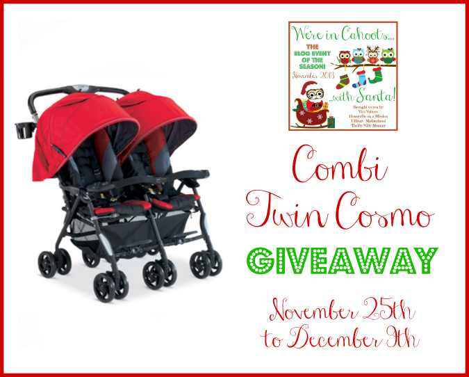 Combi Twin Cosmo Double Stroller Giveaway!  #InCahoots