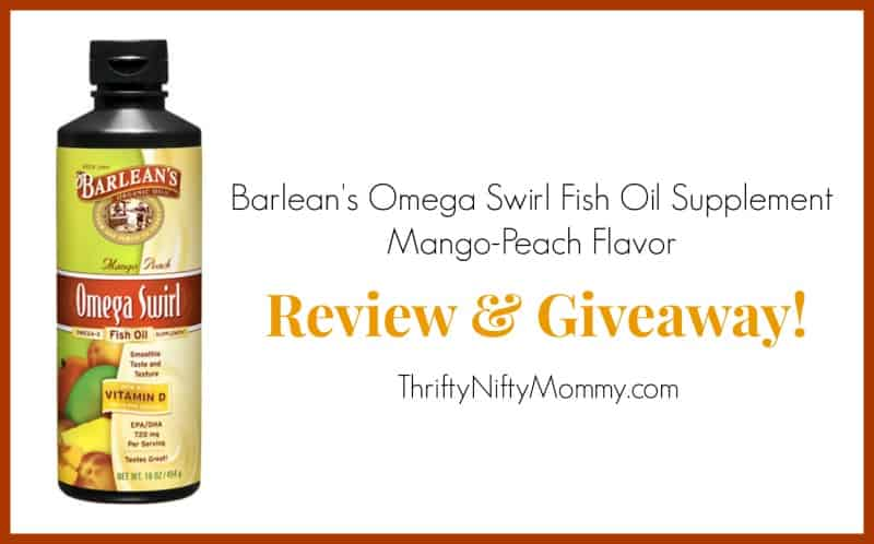 Barlean 39 s omega swirl fish oil supplement thrifty nifty for Barleans fish oil reviews