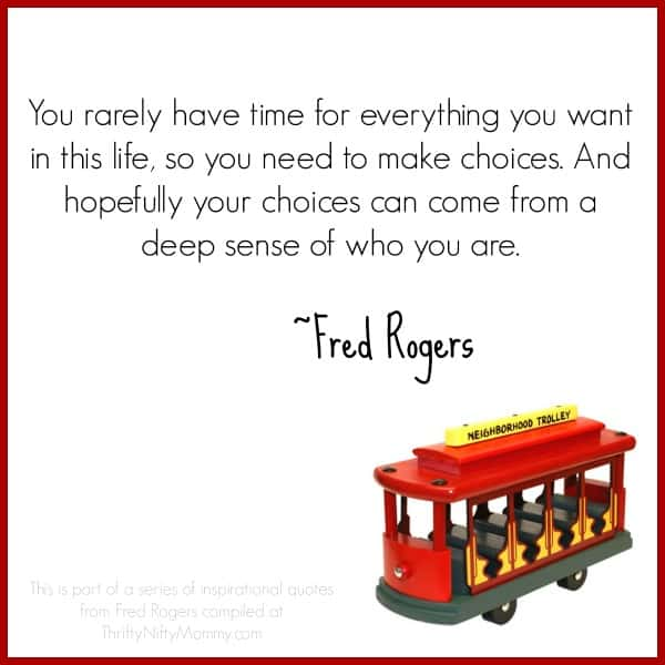 Inspirational Quotes From Fred Rogers Thrifty Nifty Mommy