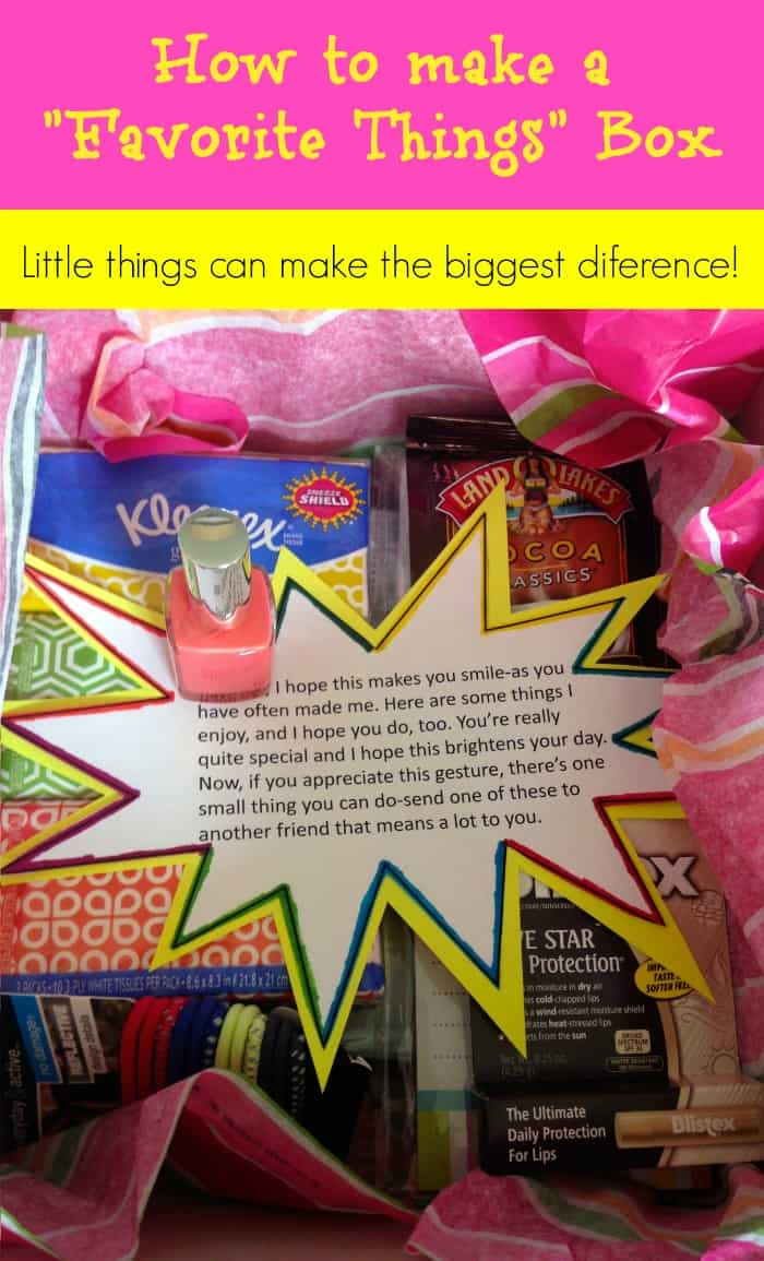 A Favorite Things Box – It's the Little Things.
