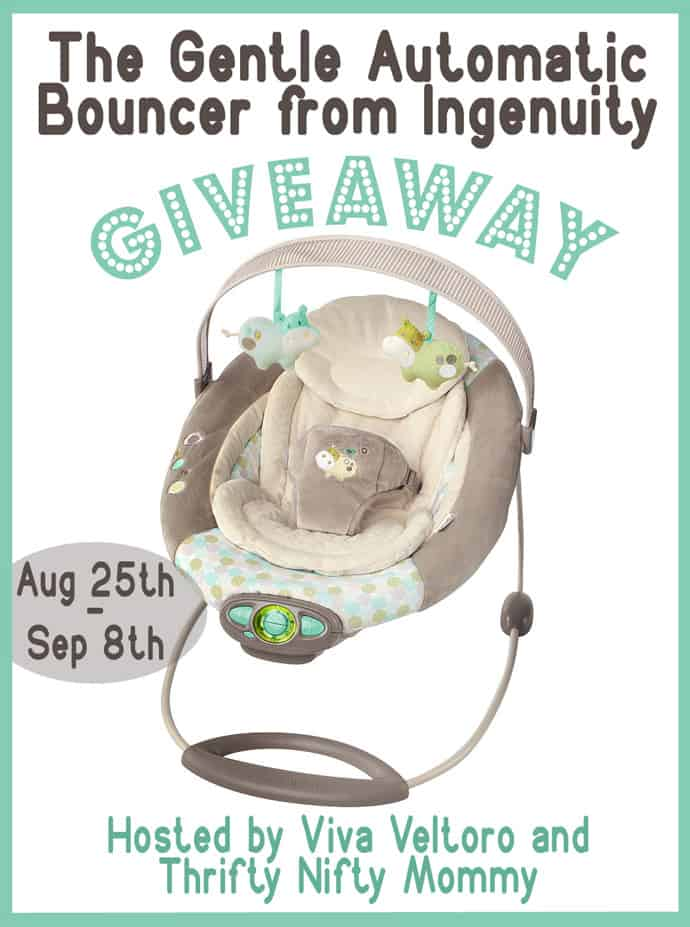 Ingenuity Automatic Bouncer Emerson Fashion {Review & Giveaway}