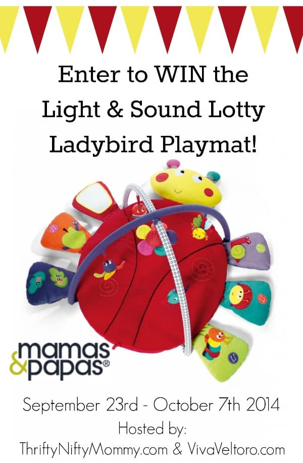 Mamas & Papas Light & Sound Lotty Ladybird Playmat {Review & Giveaway}