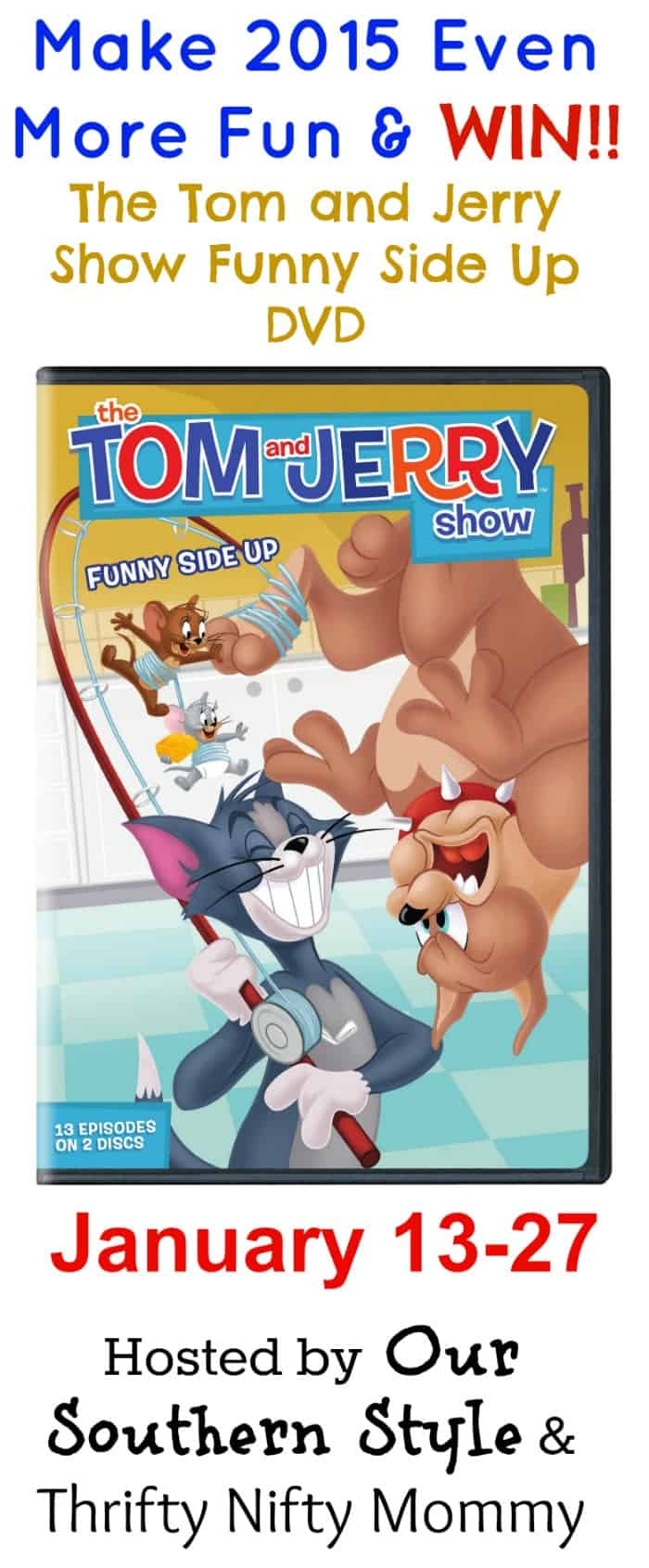 The Tom and Jerry Show Season 1 Part 2 – Funny Side Up DVD GIVEAWAY!!