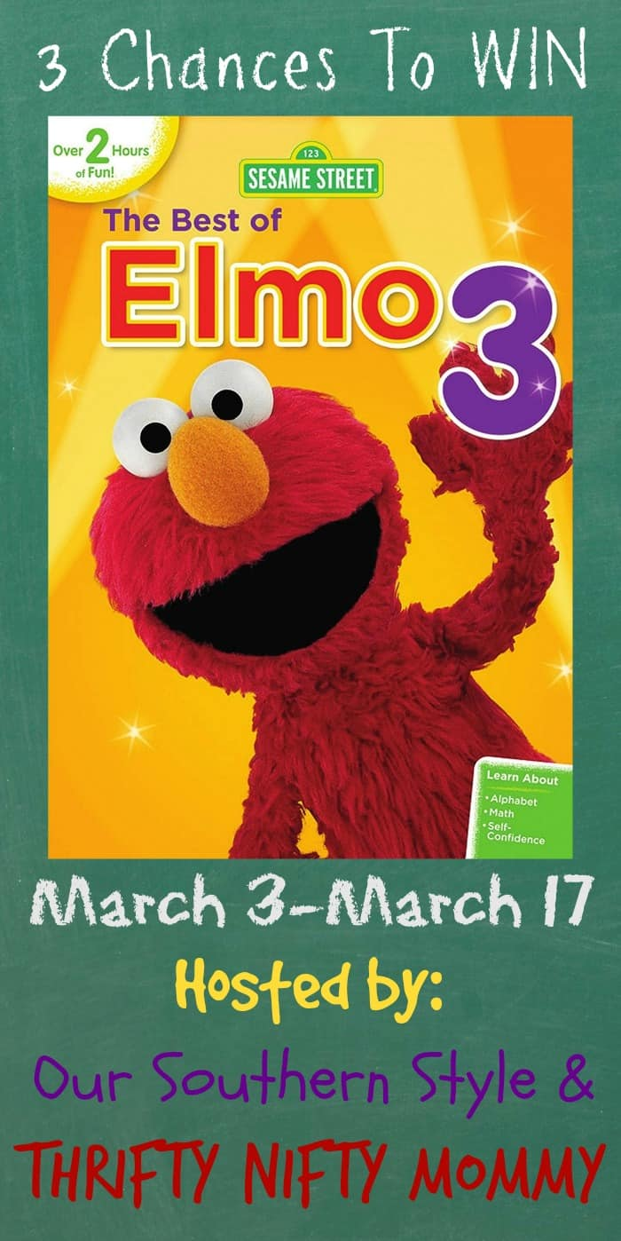 Sesame Street: The Best of Elmo 3 {Giveaway With Three WINNERS!!}