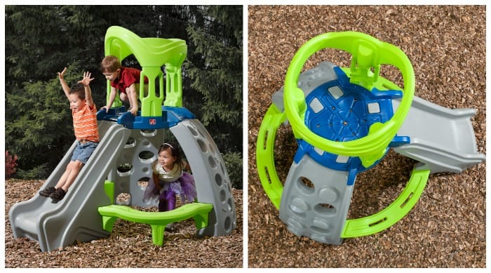 outdoor climb and slide playhouse house design and decorating ideas
