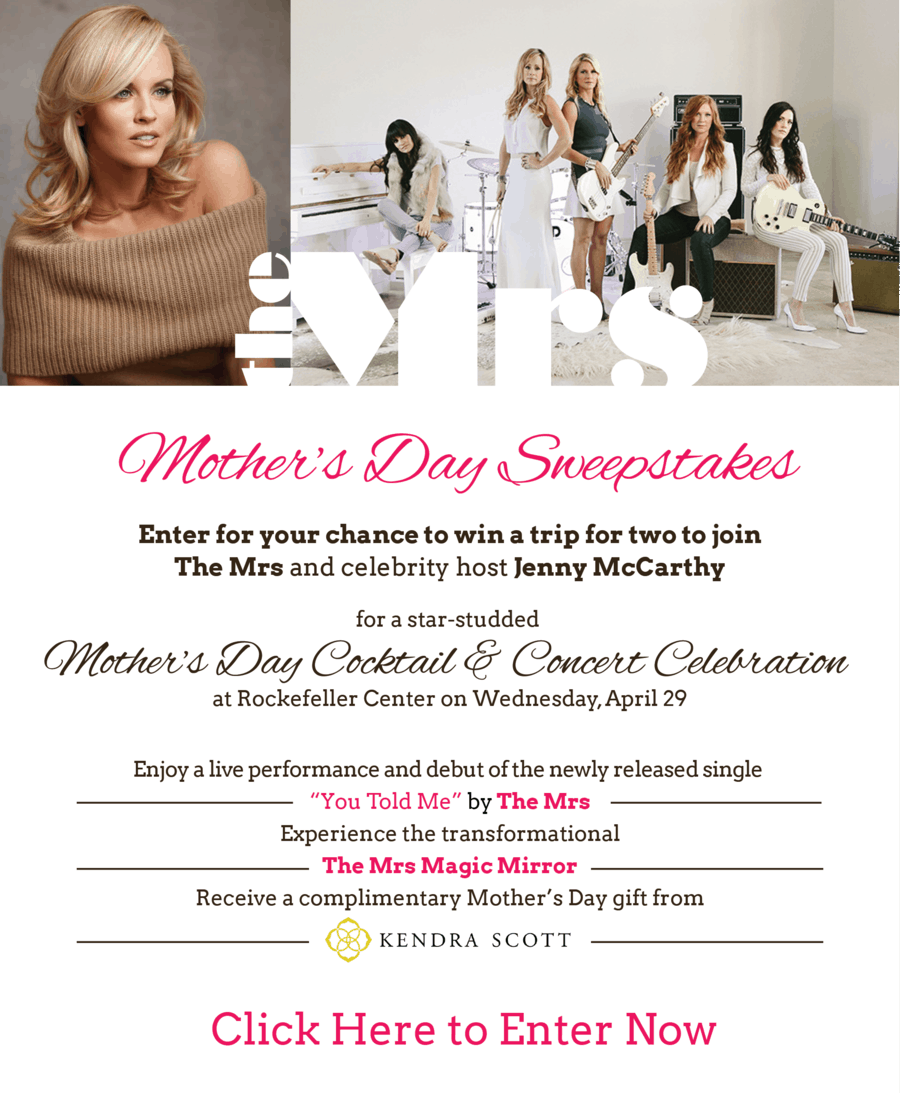 The Mrs. Mother's Day Sweepstakes {Win a Trip to NYC!}