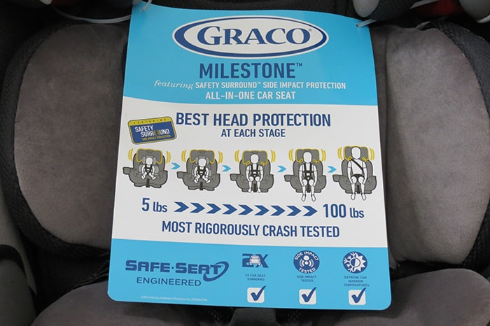 Graco Milestone Car Seat Review Info