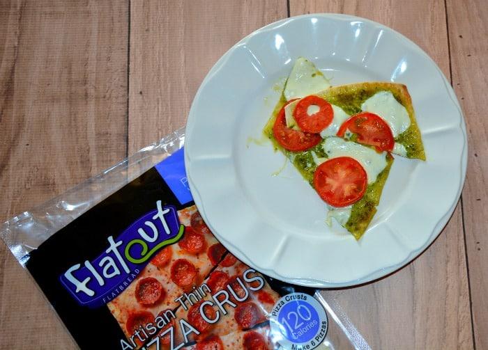 Flatbread Pesto Pizza {Delicious, Quick, & Easy} #FlatoutLove