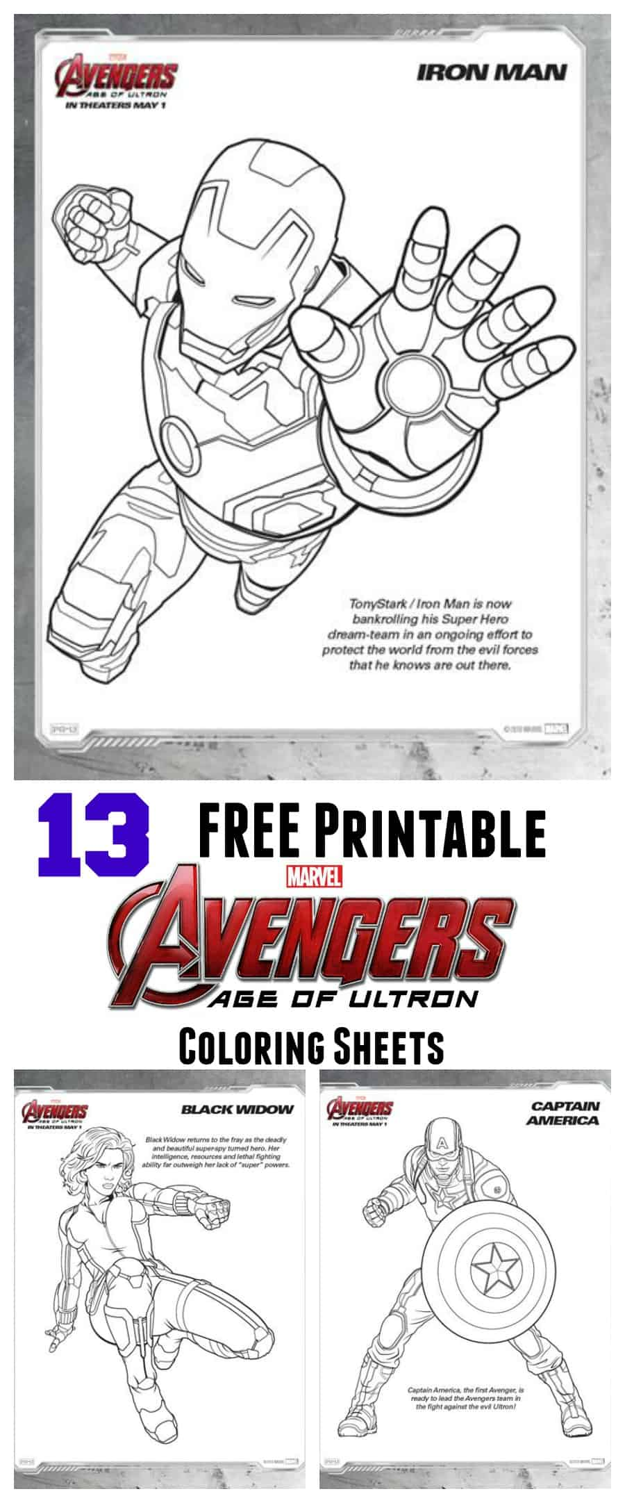 free avengers age of ultron coloring sheets thrifty nifty mommy
