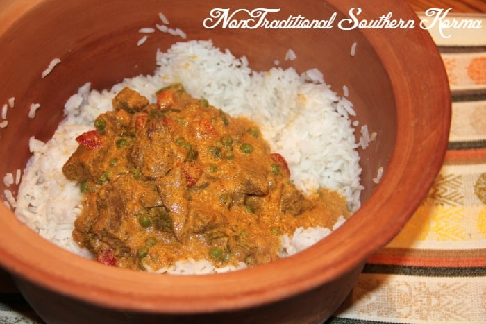 NonTraditional Southern Korma