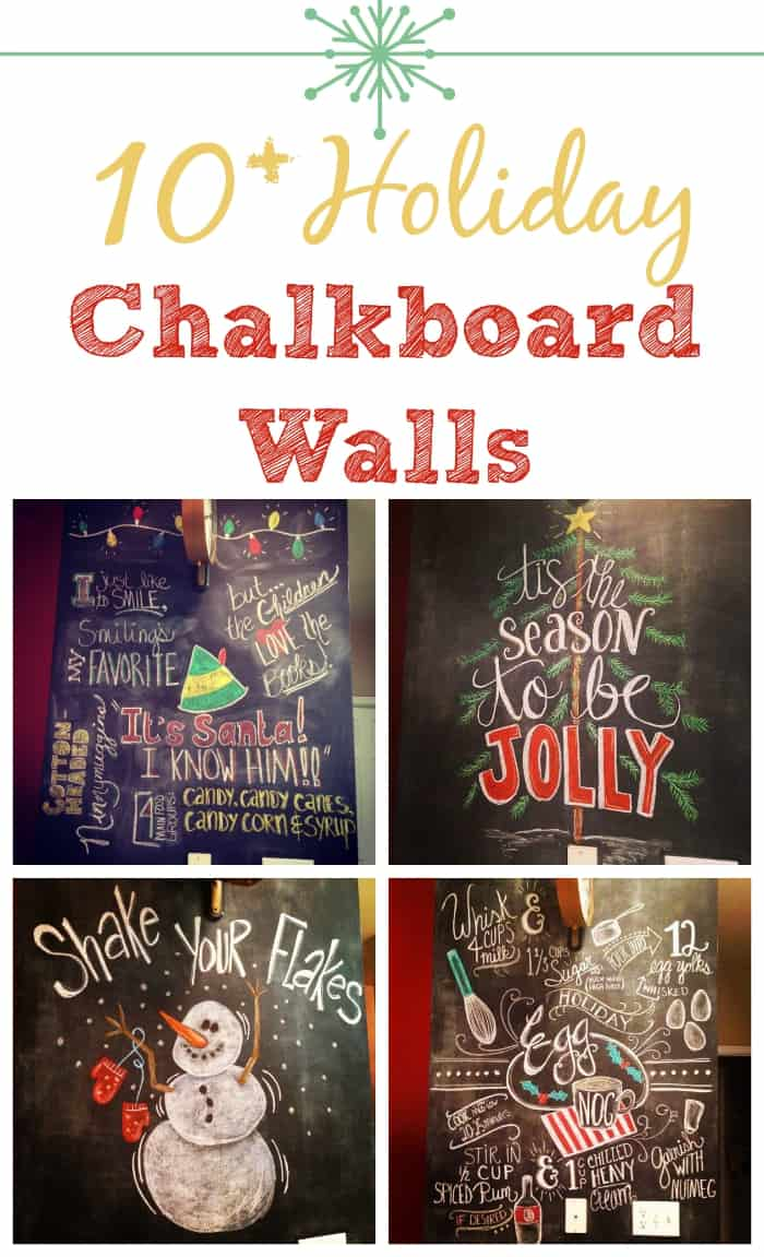 10+ Holiday Chalkboard Walls To Make Your Home Merry & Bright