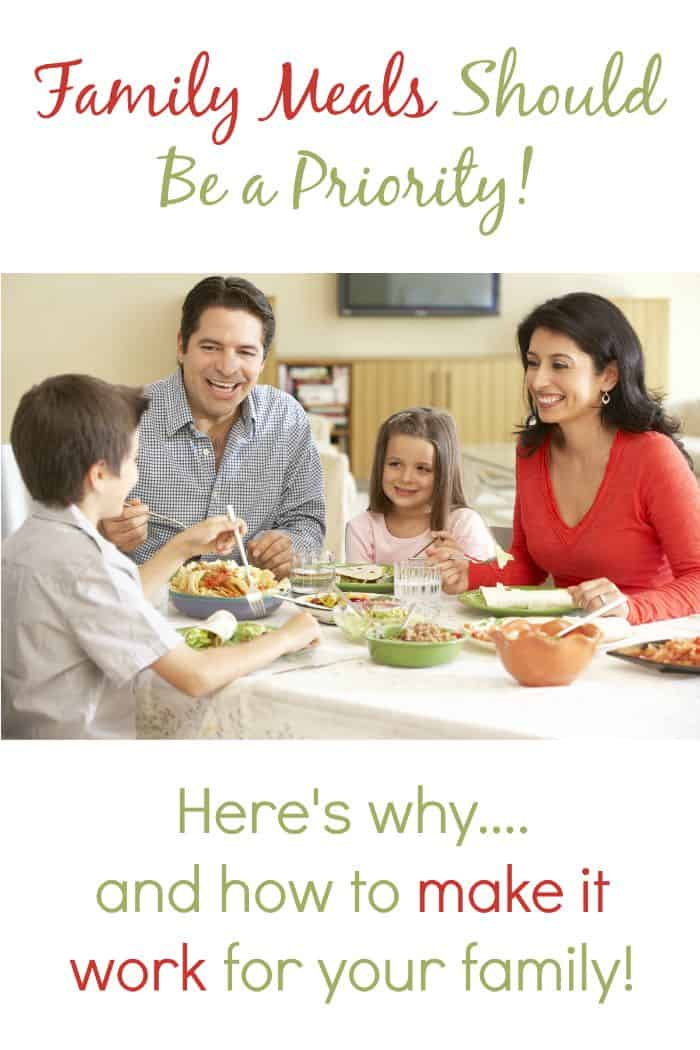 Dinner time can be family time too thrifty nifty mommy for Nifty family