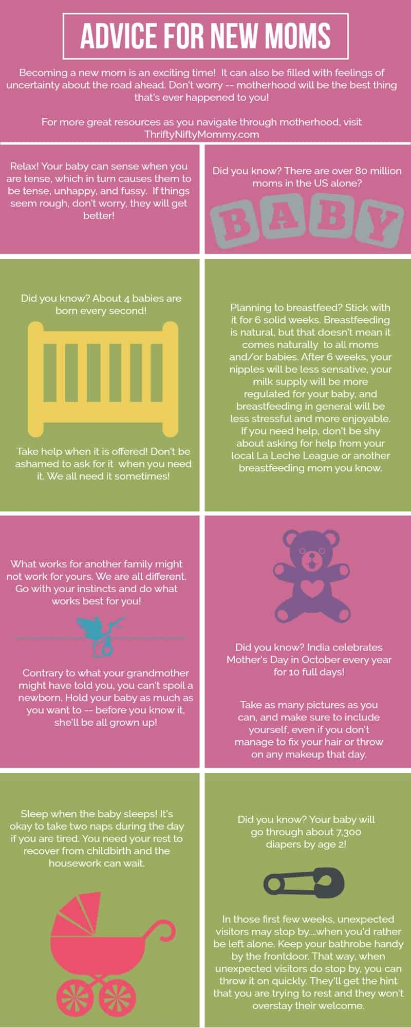 My Best Advice For New Moms {Plus How to Make a Milestone Infographic For Your Child}