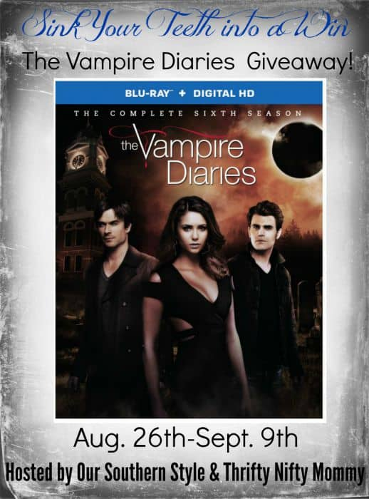 Sink Your Teeth into The Vampire Diaries Blu-Ray Season 6 GIVEAWAY!!