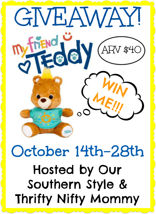 My Friend Teddy {And A GIVEAWAY TOO!!}