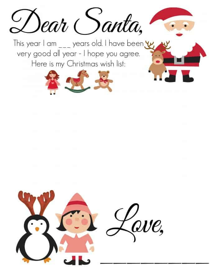 Free Printable Christmas Wish Lists - Thrifty Nifty Mommy