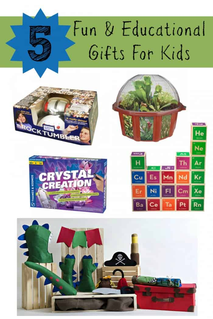 5 Fun & Educational Gifts For Kids - Thrifty Nifty Mommy