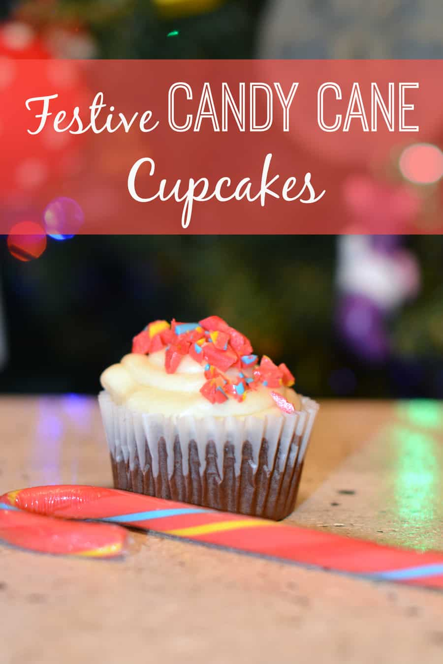 Festive Candy Cane Cupcakes