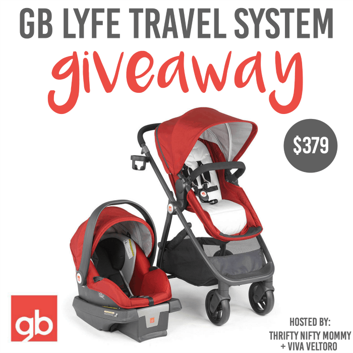 GB Lyfe Travel System Giveaway