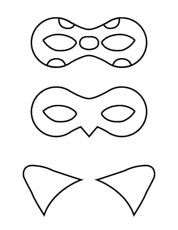 Ladybug and Cat Noir masks - free printable
