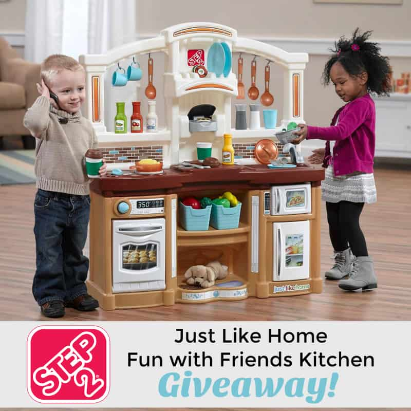 win the step2 just like home fun with friends kitchen thrifty nifty mommy. Black Bedroom Furniture Sets. Home Design Ideas