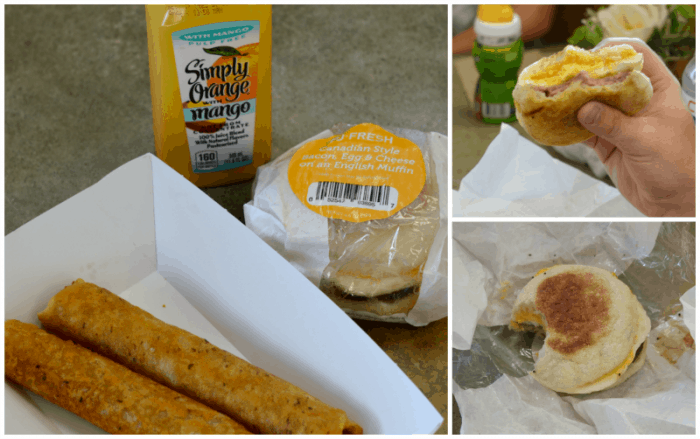 Pilot Flying J Breakfast Sandwiches Collage