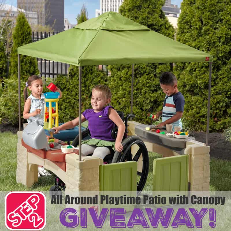 All Around Playtime Patio with Canopy Giveaway