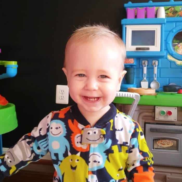 Gideon in Carters pajamas