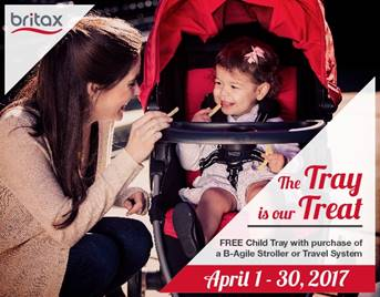 Britax Free Tray Promotion