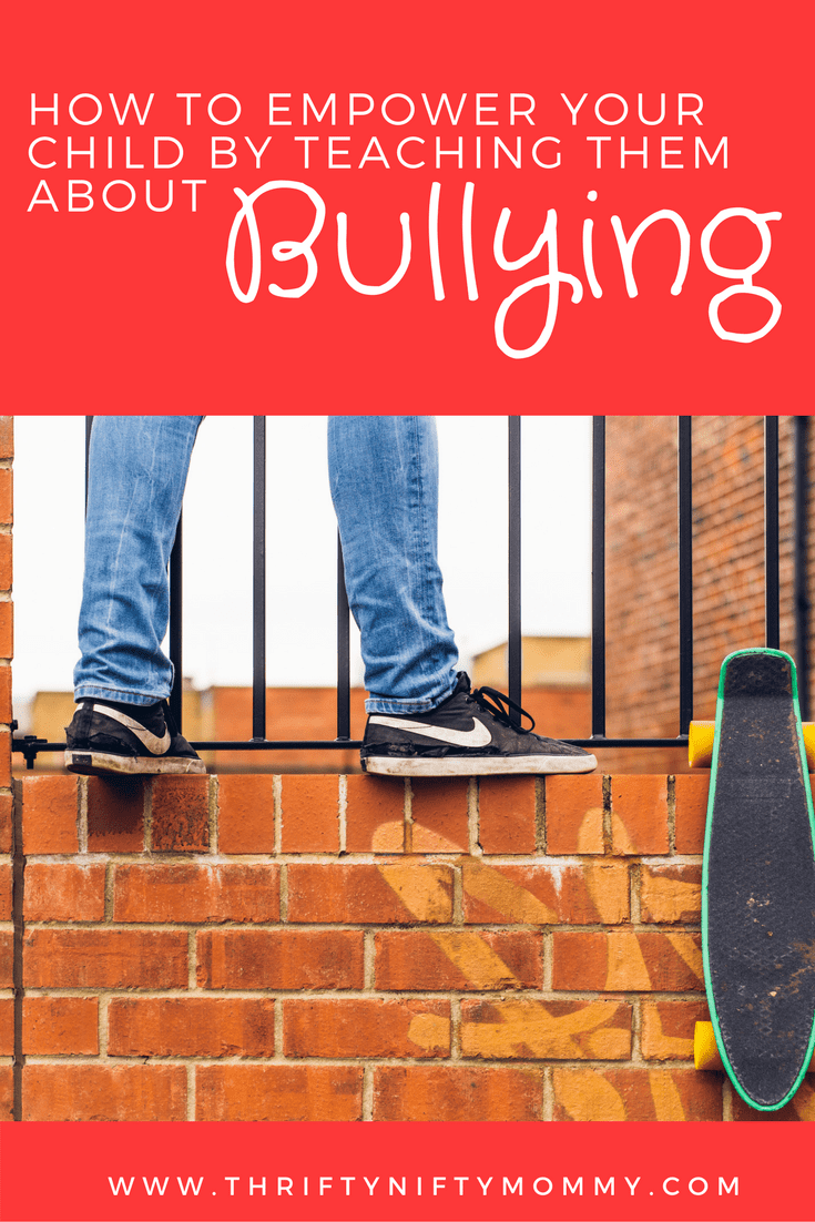 Bullying is a problem that our children face. Teach your kids about bullying. It will empower them!