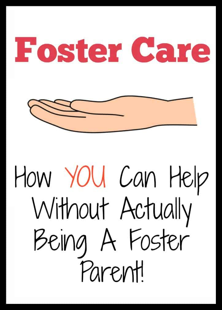 Foster Care - How You Can Help Without Actually Being A Foster Parent. 7 practical tips on supporting foster families.