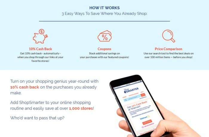 How to earn 10% cash back with ShopSmarter