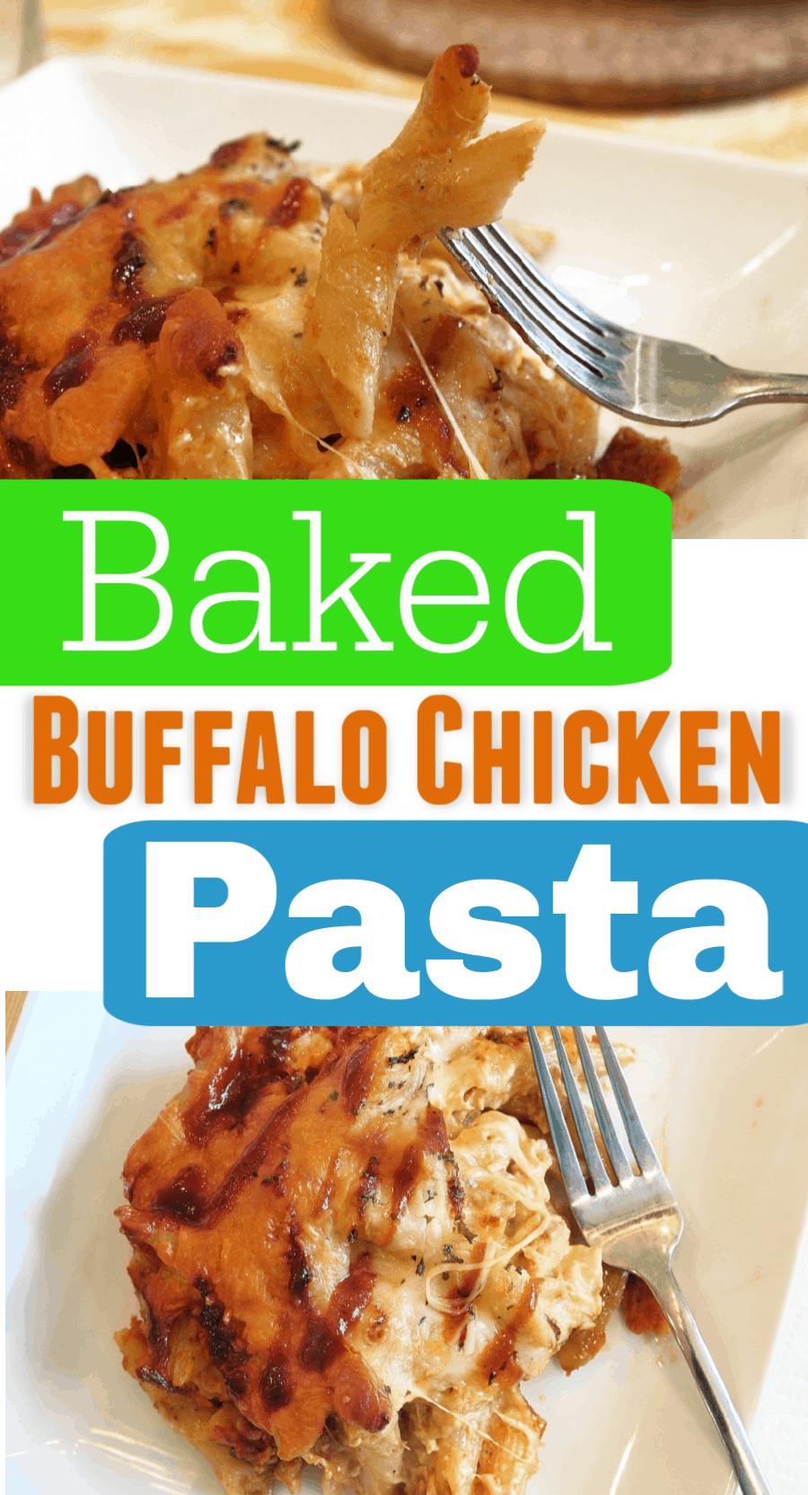 Baked Buffalo Chicken Pasta Recipe
