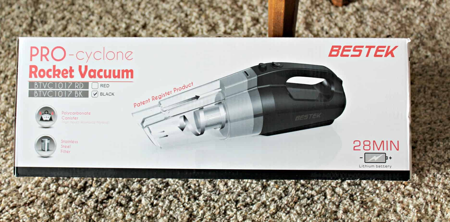 BESTEK Pro- Cyclone Rocket Cordless Stick Vacuum Cleaner