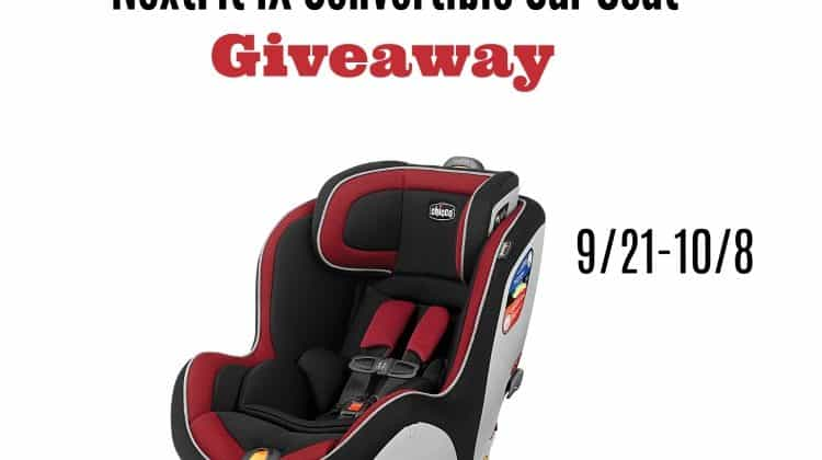 Win a Chicco NextFit iX Convertible Car Seat!