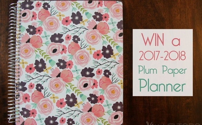 WIN a 2017-2018 Planner from Plum Paper!