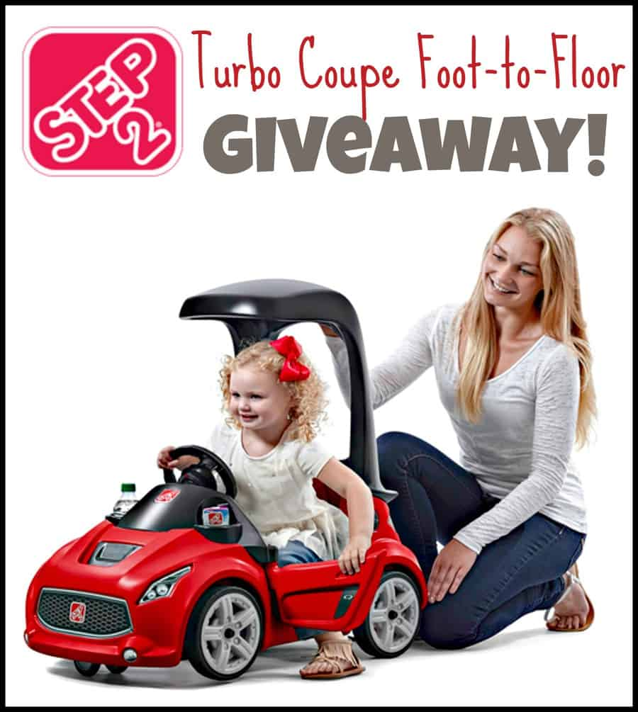 Step2 Turbo Coupe Foot-to-Floor Giveaway