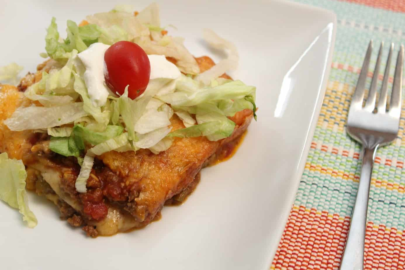 Taco Lasagna ~ The Taco With A Twist