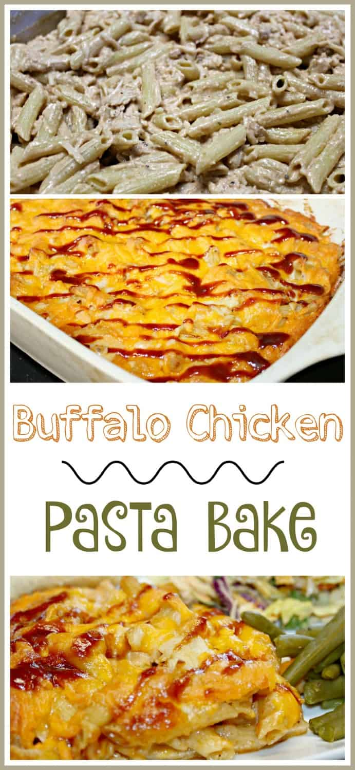Buffalo Chicken & Pasta Bake {Recipe}