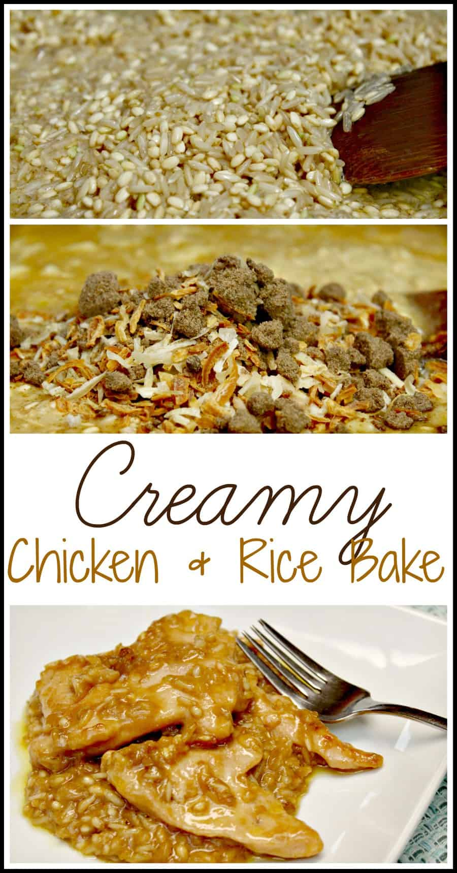 What's For Dinner: Creamy Chicken & Rice {Recipe}