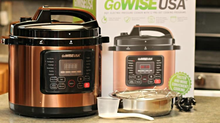 GoWise 8 Qt. Copper 12-in-1 Pressure Cooker {New Year, New You!} + Giveaway!