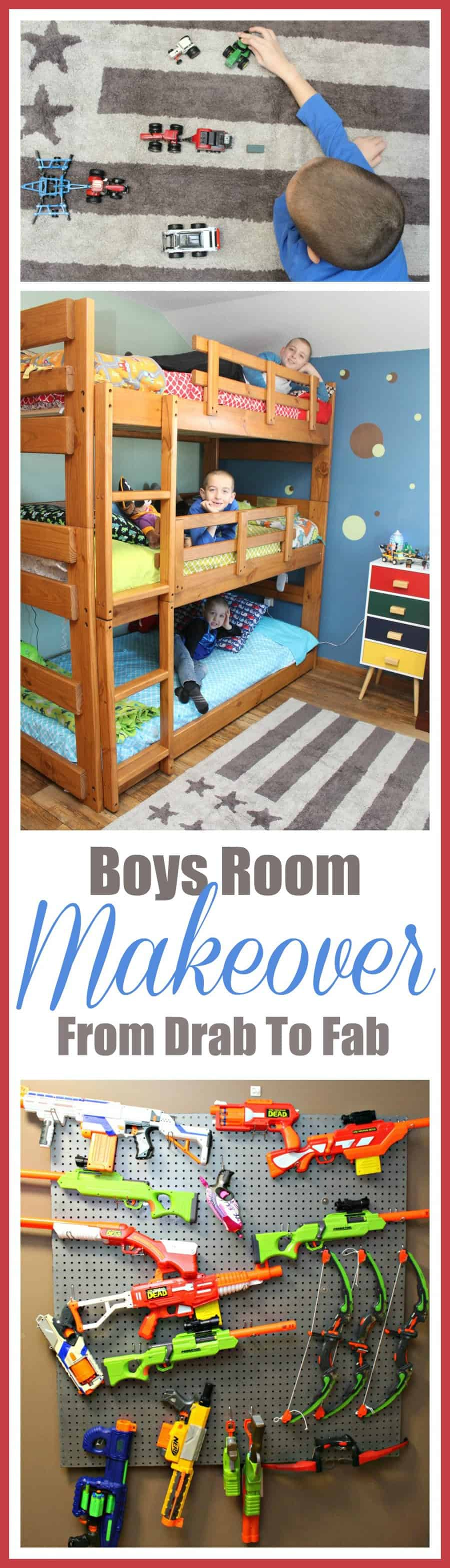 Boys Room Makeover ~ From Drab To Fab In Two Days (+ Lorena Canals Review)
