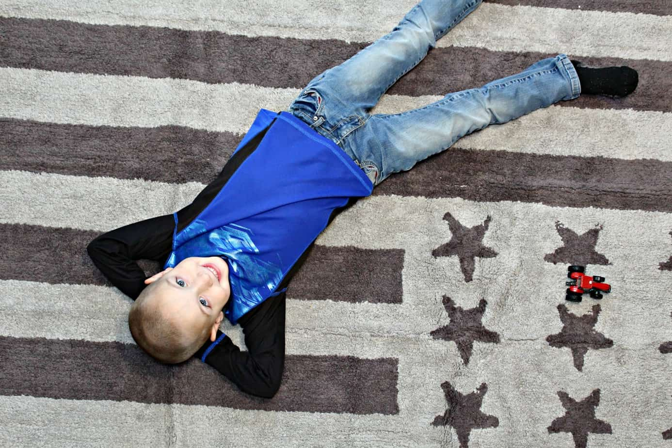 Boys Room Makeover ~ From Drab To Fab In Two Days (+ Lorena Canals Washable Kids Rug Review)
