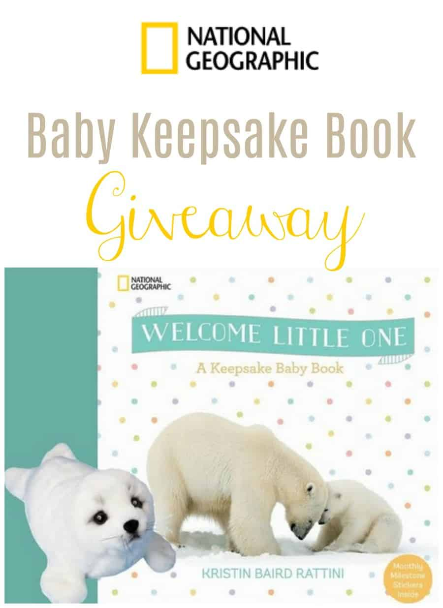 National Geographic is generously offering one of our lucky readers their very own copy of Welcome Little One: A Keepsake Baby Book and Seal plush duo.