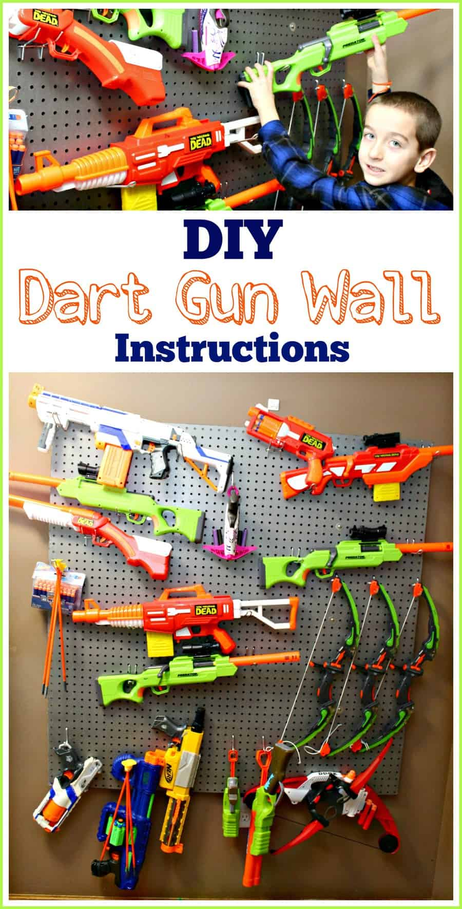 How To Built A DIY Nerf Gun Wall {Instructions}