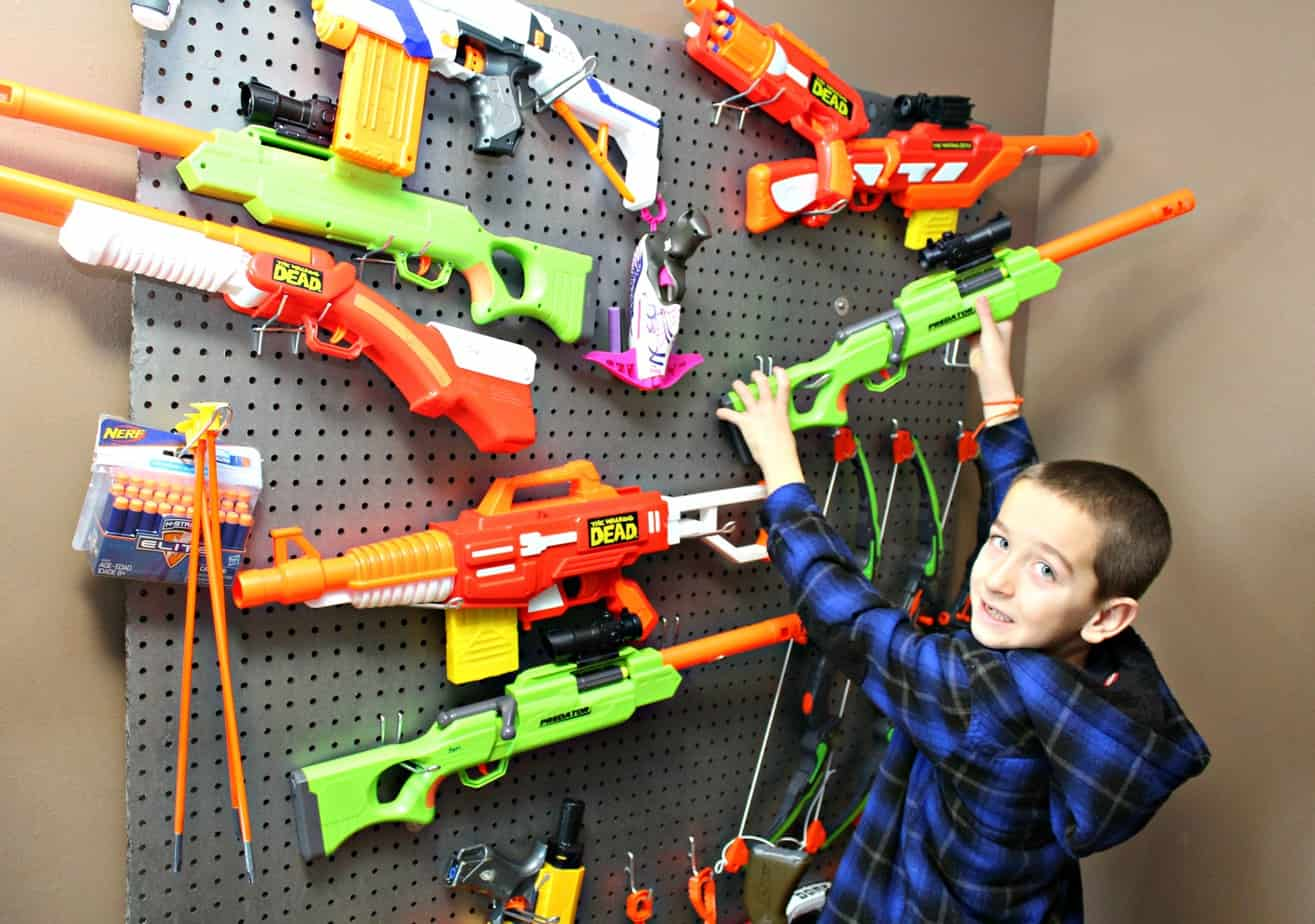 How To Built A DIY Dart Gun Weapon Wall {Instructions}