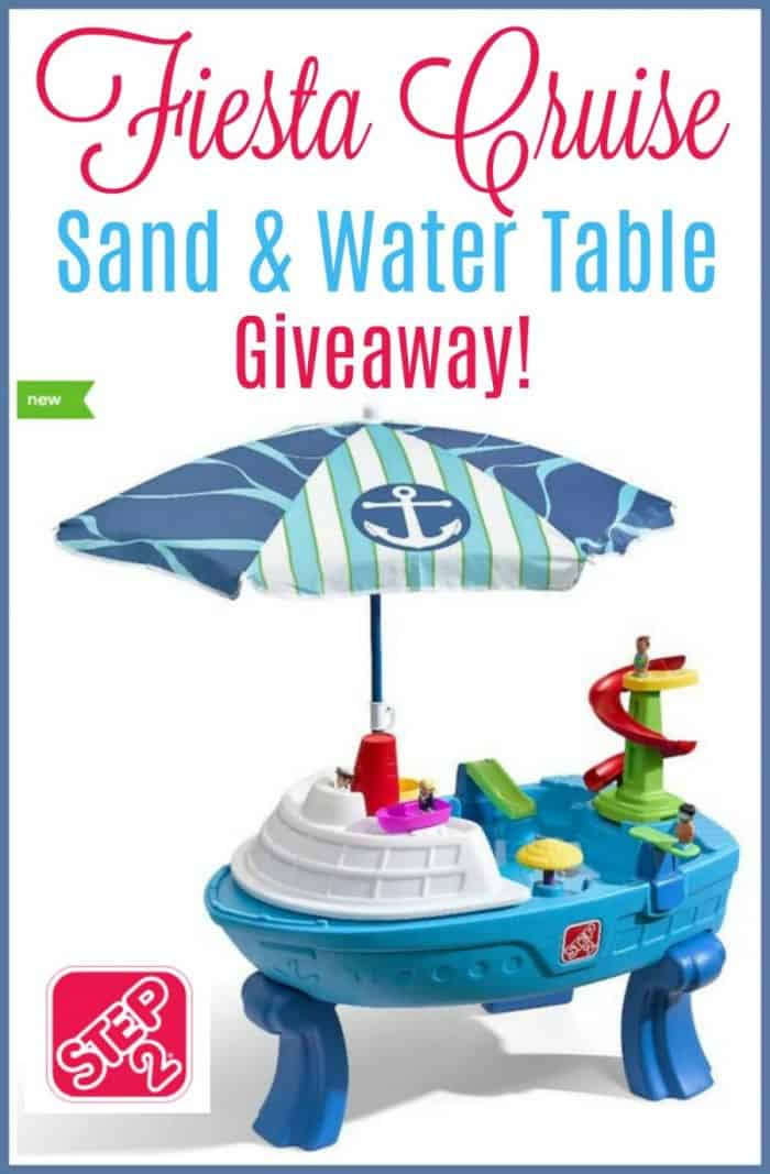 Step2 Fiesta Cruise Water and Sand Table Giveaway